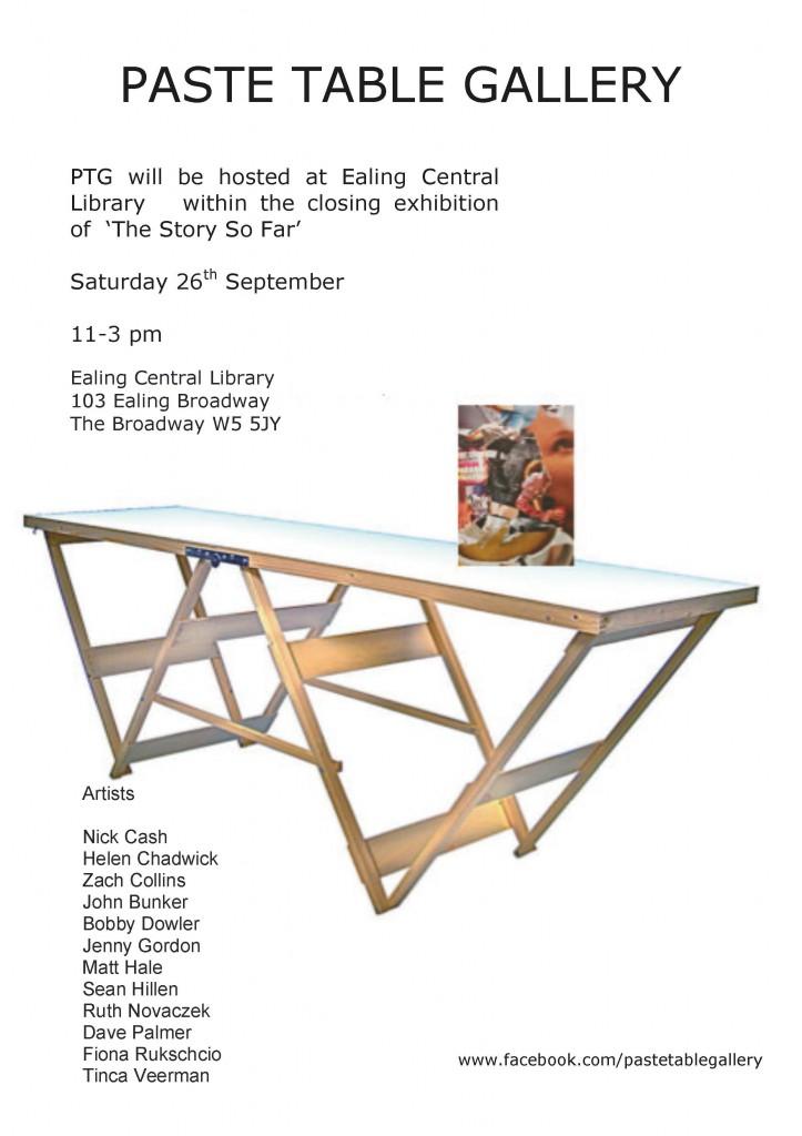 PTG Flyer ealing library 26th Sept '15
